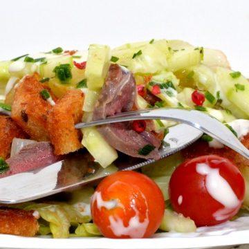 #r Salade fraîcheur aux filets de pigeonneaux